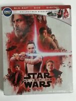 Star Wars: The Last Jedi Blu-Ray DVD Collectible Steelbook NEW