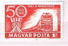 Briefmarken mit Eisenbahn Thema aus Ungarn