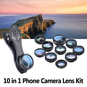 Lenti Smartphone Lens Kit 10 In 1 Grandangolo Macro Fisheye Teleobiettivo