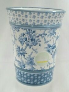Martha Stewart Everyday BLUE TOILE Bathroom Tumbler SPRINGS Fort Mill VTG NOS