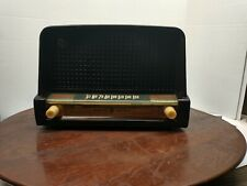 Vintage GE AM Tube Radio Brown Bakelite Model No 226 Tested