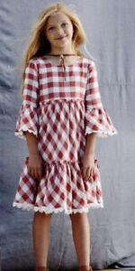 NWT Matilda Jane Kassidy plaid ruffle dress size 8 Nwt