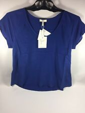 NWT Joie Womens Blouse Size Small Peruvian Blue MSRP $198 100% Silk