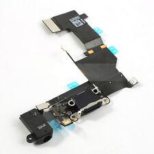 Genuine iPhone 5S Black Dock Connector USB Headphone Jack & Mic Flex ORIGINAL