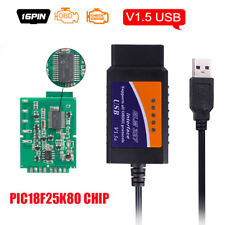 USB ELM327 V1.5 Scanner interface with PIC18F25K80 Chip OBDII Auto Code Reader