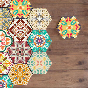 10 pcs Moroccan Self-adhesive Non-slip Bathroom Kitchen Floor Wall Tile Sticker