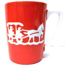 BENJAMIN of MACKINAC ISLAND Michigan Mug Cup Vintage RED Horse Carriage Red Wht