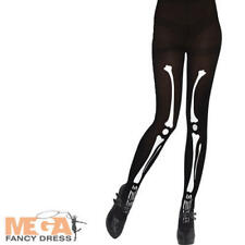 Skeleton Tights Ladies Halloween Fancy Dress Costume Accessory Women Outfit