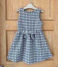 NEXT *8y GIRLS DRESS Bow Fleck Fabric AGE 8 YEARS