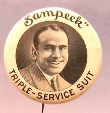 scarce 1920's DOUGLAS FAIRBANKS SR. movie star SAMPECK SUIT pinback button ^