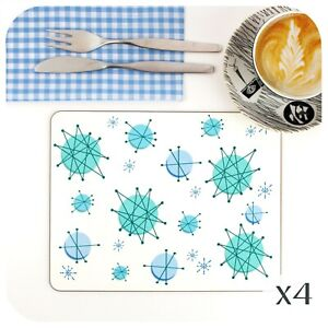 Atomic Starburst Placemats, 50s Placemats, Franciscan Placemats, 50s home decor