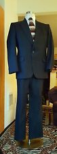 MEN'S TOWNCRAFT BLACK PINSTRIPE SUIT/ JACKET 42R
