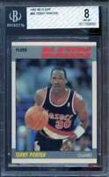 Terry Porter Rookie Card 1987-88 Fleer #389 BGS 8