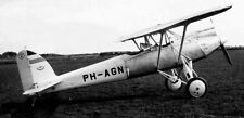 Pander P-1 Two Seats Singe Engined Aircraft Mahogany Kiln Wood Model Small New