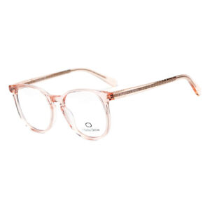 Eyeglasses Men or Womens Clear beige Round 51 20 140 by Charles Delon Round