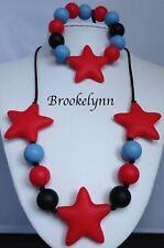 BROOKELYNN Smaller Teething Bracelet Necklace Set Autism Sensory Chewing