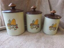 Set of 3 Vintage Aluminum West Bend Merry Mushroom Canister Set