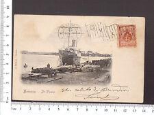 CARTOLINA BRINDISI - IL PORTO - VIAGGIATA 1911
