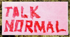 TALK NORMAL Sunshine Ltd Ed RARE New Logo Sticker +FREE Indie Alt Rock Stickers!