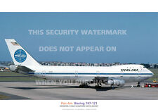 PAN AM BOEING 747-121 SYDNEY 747 121 A3 COLOUR POSTER PRINT PICTURE PHOTO IMAGE