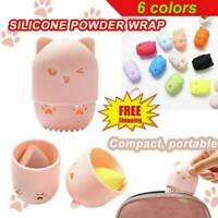 Portable Makeup Sponge Blender Travel Case Silicone Sponge Cute Protective Cases