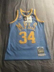 100% Authentic 2001 02 Shaq O'Neal Mitchell Ness Lakers MPLS Jersey 40 M BNWT