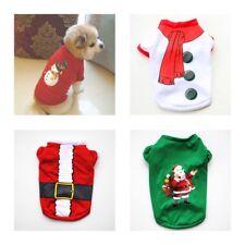 Christmas Dog Clothes Christmas Shirt Winter Convenience Holiday Cotton T-Shirt