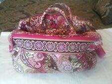 Vera Bradley Very Berry Stephanie Pink Purple Gray Retired Travel u Bag EUC