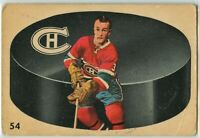 1962-63 Parkhurst #54 Jean Claude ''J.C.'' Tremblay RC VG Condition (041220-01)