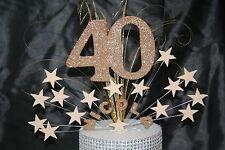 0098 40TH ANY AGE GLITTERED CAKE TOPPER BIRTHDAY DECORATION  CAKE SPRAY