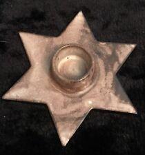 Gotek Pottery Colonia Tovar Venezuela Brown Pillar Candle Holder Mid Cent?