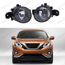 Clear Lens Fog Lights Bumper Lamps Pair For Nissan Murano 2015-2018