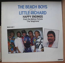 """THE BEACH BOYS AND LITTLE RICHARD HAPPY ENDINGS  OST 12"""" MAXI 45T FRENCH LP"""