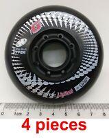 80mm HYPER+G Concrete+GRIP 84A inline skates roller blades black wheels tw