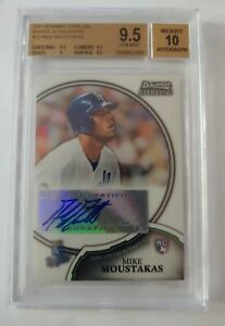 MIKE MOUSTAKAS 2011 Bowman Sterling ROOKIE RC Auto #13 Royals BGS 9.5 Gem mint