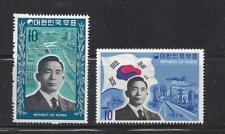 KOREA - 726-727 - MH-1970 - PRESIDENT PARK, MEANS OF TRANSPORT, HWAYS, FACTORIES