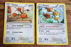 Carte Pokémon DODUO PV 60 115/162 + DODRIO PV 90 117/162 XY Impulsion Turbo VF