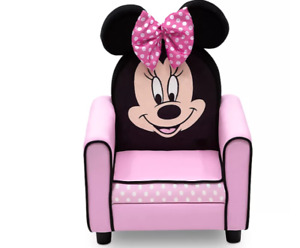 Disney Minnie Mouse Upholstered Kids Chair in Pink/Black by Delta Children