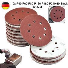 60er 125mm Schleifscheiben 8-Loch Klettaufnahme Schleifpapier Exzenterschleifer