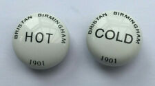 Tap  Indices Tops Caps  Hot Cold Pair 22.5 mm Bristan 1901                 L19