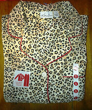 443c50c8decf New Kim Rogers Cotton Pajamas Set 2 Piece Top and Bottoms Leopard Print  Small