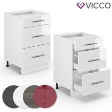 VICCO Schubunterschrank 50 cm Küchenschrank Hängeschrank Küchenzeile Fame-Line