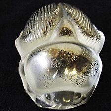 "SCARAB Platinum Figurine Lalique NEW ORIGINAL BOX 2"" long Made in France #11764"