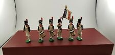 Trophy Toy Soldiers of Wales Napoleonic French Sappers & Drums & Flag Standard
