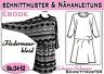 Kleid mit Fledermausärmeln pdf.Schnittmuster und Nähanleitung Gr.:34-52