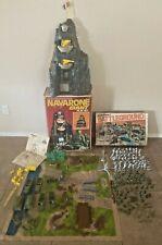 Marx World War II Battleground + Battle of Navarone Play Set 99% Complete w. Box