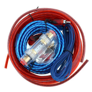 Car Audio 8 Gauge Cable Kit Amp Amplifier Install RCA Suoofer Sub Wiring New