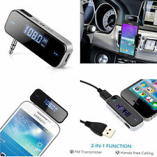Mini Car Wireless Bluetooth 3.5mm AUX Stereo Music FM Receiver Adapter Mic
