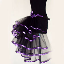 Adult Women Party Costume Petticoat Princess Tulle Tutu Skirt Pettiskirt Fancy