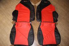 1994-1996 C4 Corvette Genuine Leather Black/Red Sport Seat Covers